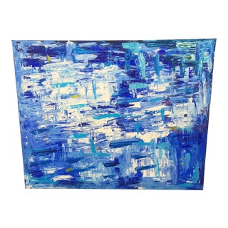Extra Large Blue Abstract Artwork