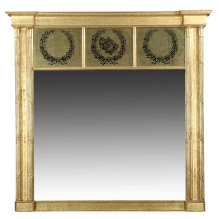 Neoclassical 19th Century Gilt Wood Mirror