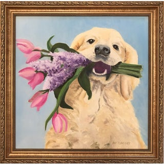 """Golden Moments"" Golden Retriever Painting"