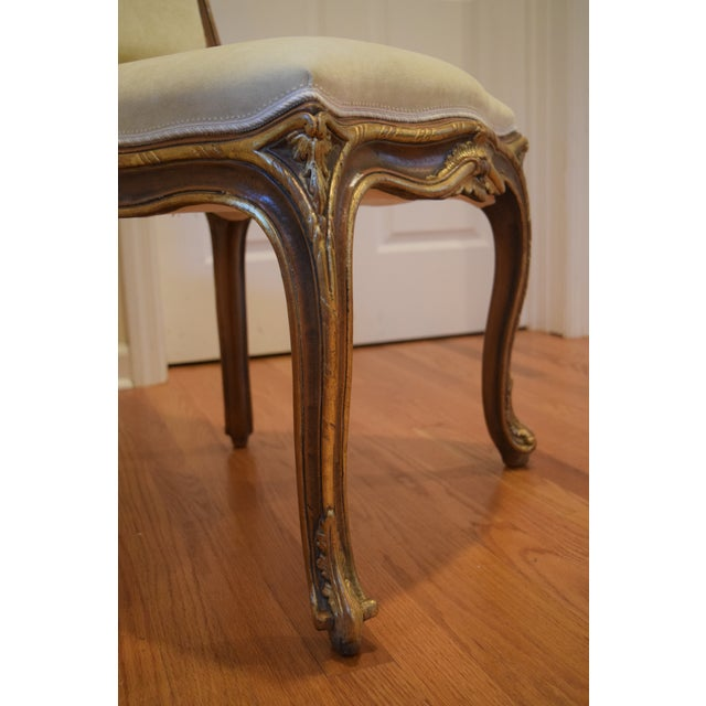 Image of Hand Carved Italian Wood Chair