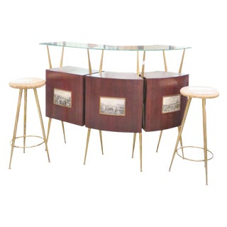 Gio Ponti Style Italian Modern Bar - Set of 4
