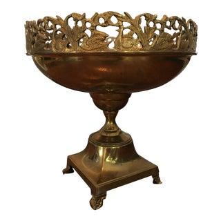 Andrea Sadek Brass Swan Bowl Centerpiece