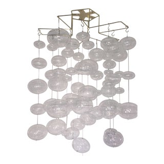 Floating Glass Bubble Mobile / Ceiling Fixture