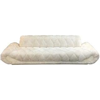 Adrian Pearsall Style Faux Fur Gondola Sofa