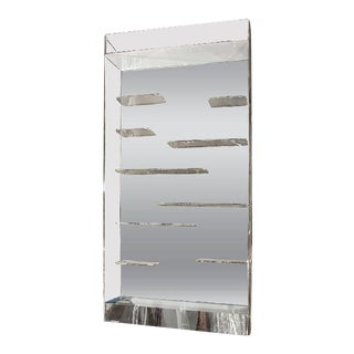 Les Prismatiques Free Floating Lucite Shelves & Mirror Wall Vitrine