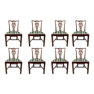 Set of 10 Chinese Chippendale Dining Chairs