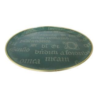 Vintage Decorative Script Tray