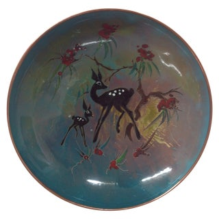 Mid-Century Enameled Copper Charger
