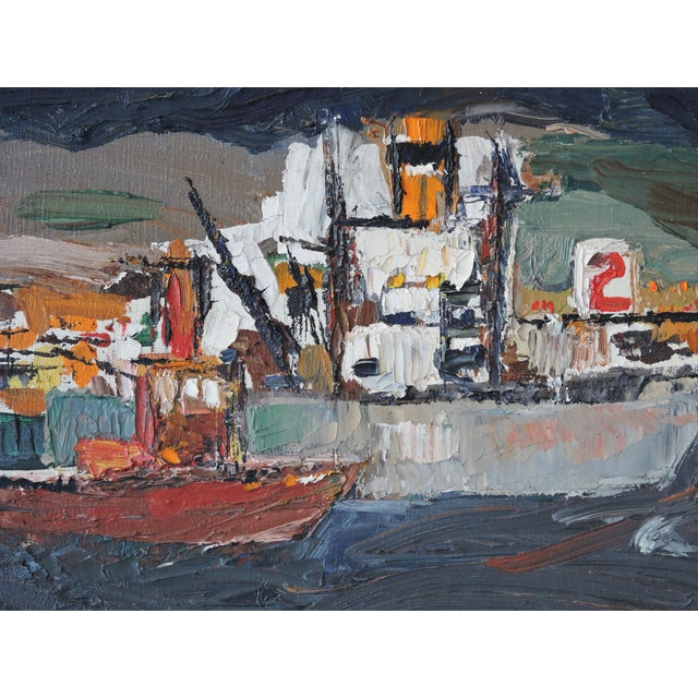Image of Expressionist Shipyard Painting