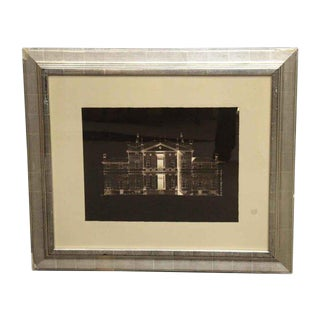 Matted Brown & White House Photograph