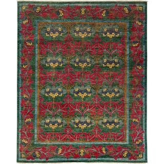 "Arts & Crafts Hand Knotted Area Rug - 8'1"" X 9'10"""