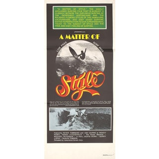 """A Matter of Style"" 1976 Surfing Poster"
