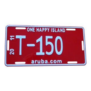 Aruba Metal License Plate