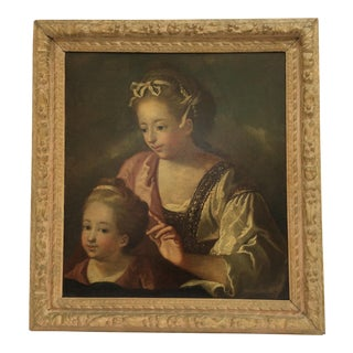 16th C. Painting of Mother and Child