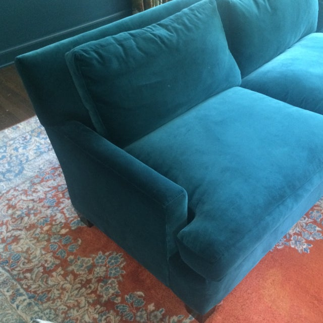 Image of Teal Sofa with Chaise from Quatrine