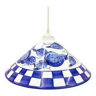 Hand Painted Porcelain Pendant Light