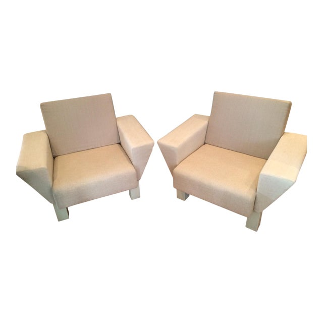 Image of Ettore Sottsass From Knoll Studio Westside Lounge Chairs - A Pair
