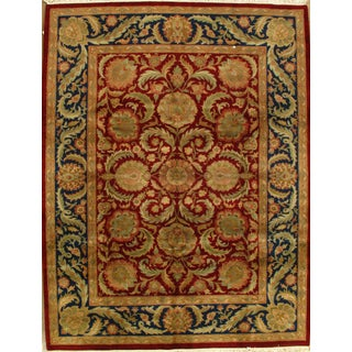 """Hand-Knotted Indian Agra Rug - 9'3"""" X 11'11"""""""