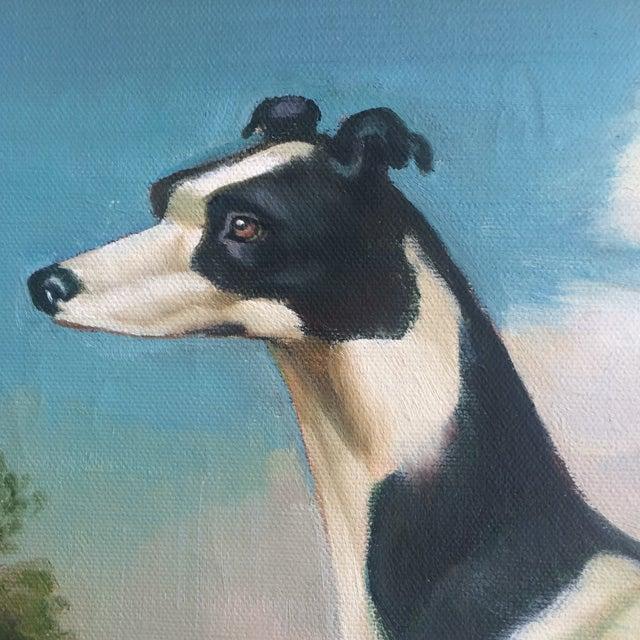 Greyhound Dog Painting - Image 2 of 4