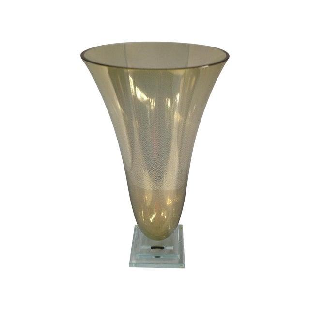 Image of Stephen Schlanser 24k Gold Vase, Signed