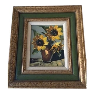 Sunflowers Oil Painting by Leon Franks