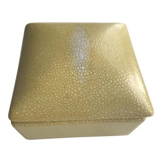 Tozai Yellow Ceramic Shagreen Box