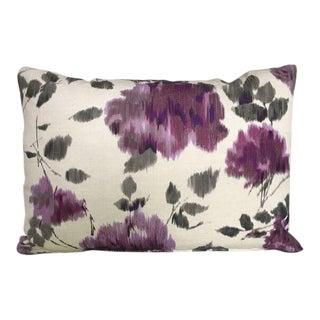 Kim Salmela Purple & Gray Floral Pillow