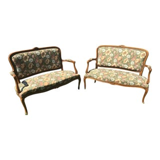 19th Century French Provincial Settees - A Pair