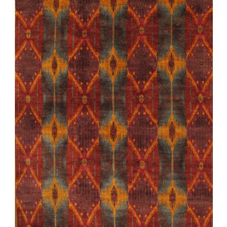 Ikat Design Wool Rug - 6'x9'