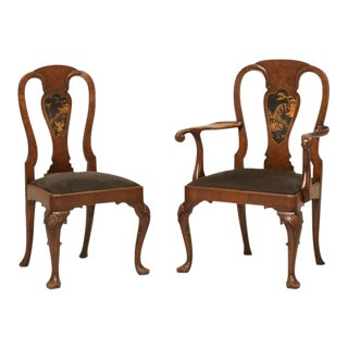 English Chinese Chippendale Dining Chairs - Set of 6