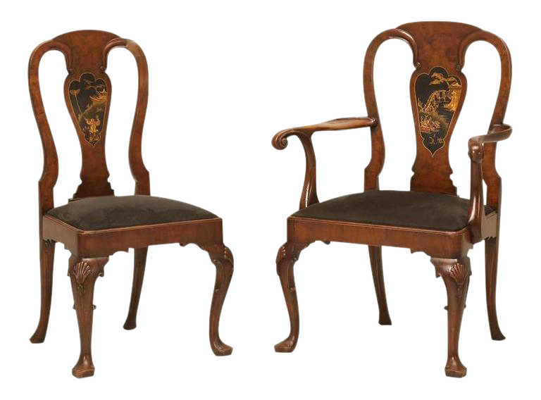 English Chinese Chippendale Dining Chairs   Set Of 6