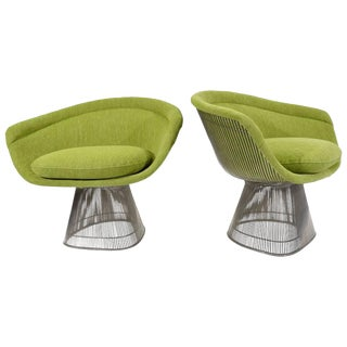 Pair of Warren Platner Lounge Chairs in Holly Hunt Great Outdoors