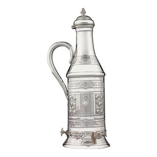 Victorian Silverplate Wine Bottle Holder