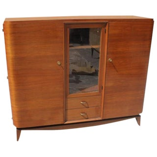 Beautiful French Art Deco Solid Mahogany Maxime Old Bookcase Circa 1940s.