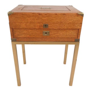 Mid-Century Modern Single Drawer Campaign Style Stand