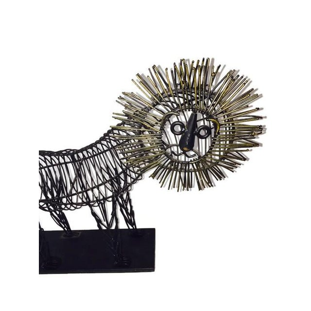 Mid Century Iconic Lion Sculpture, C. Jere Style - Image 3 of 6
