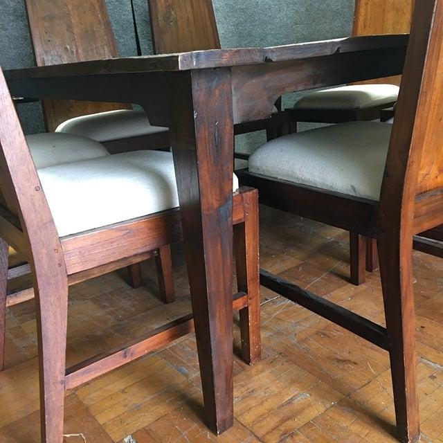 Rustic Square Mahogany Dining Set - Image 9 of 9