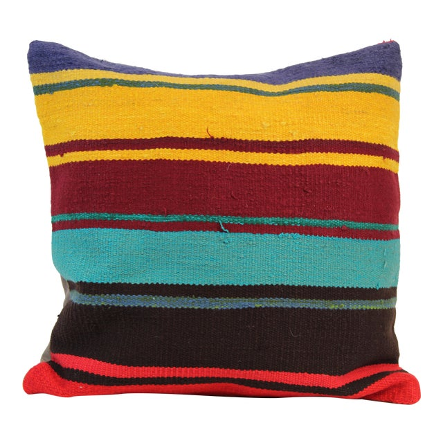 20'' Large Vintage Turkish Kilim Pillow Cover - Image 1 of 5