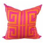 Image of Greek Key Magenta Pillow Covers