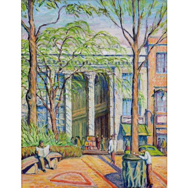 Main Street Oil Painting C. 1940 - Image 5 of 5