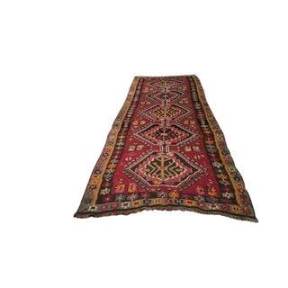 Vintage Turkish Kilim Rug - 5′ × 12′8″