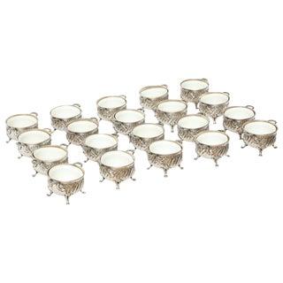 Gustave Keller Set of Silver Side Dish Bowls