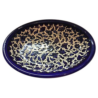 Blue & White Italian Oval Bowl