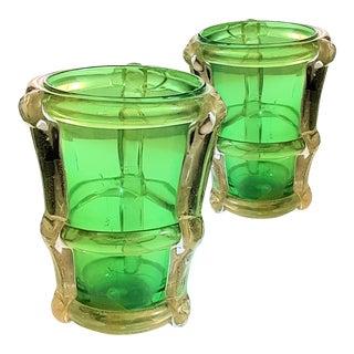 Large Murano glass modern pair of vases