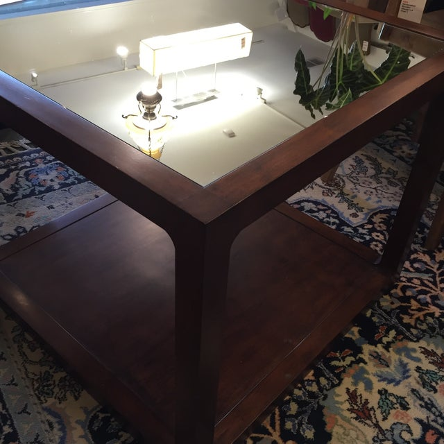 Custom Mirror Topped Side Table - Image 8 of 9