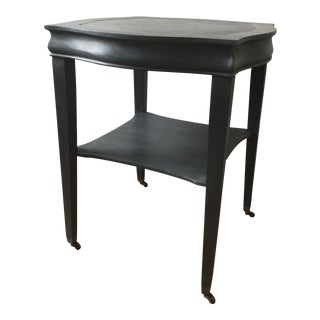 Vintage Black Painted Side Table