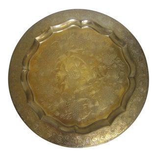 Indian Boho Brass Tray
