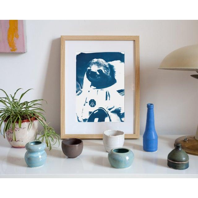 Cyanotype Print- Astronaut Sloth Meme - Image 3 of 4