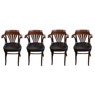 Vintage L & B Bentwood Chairs - Set of 4