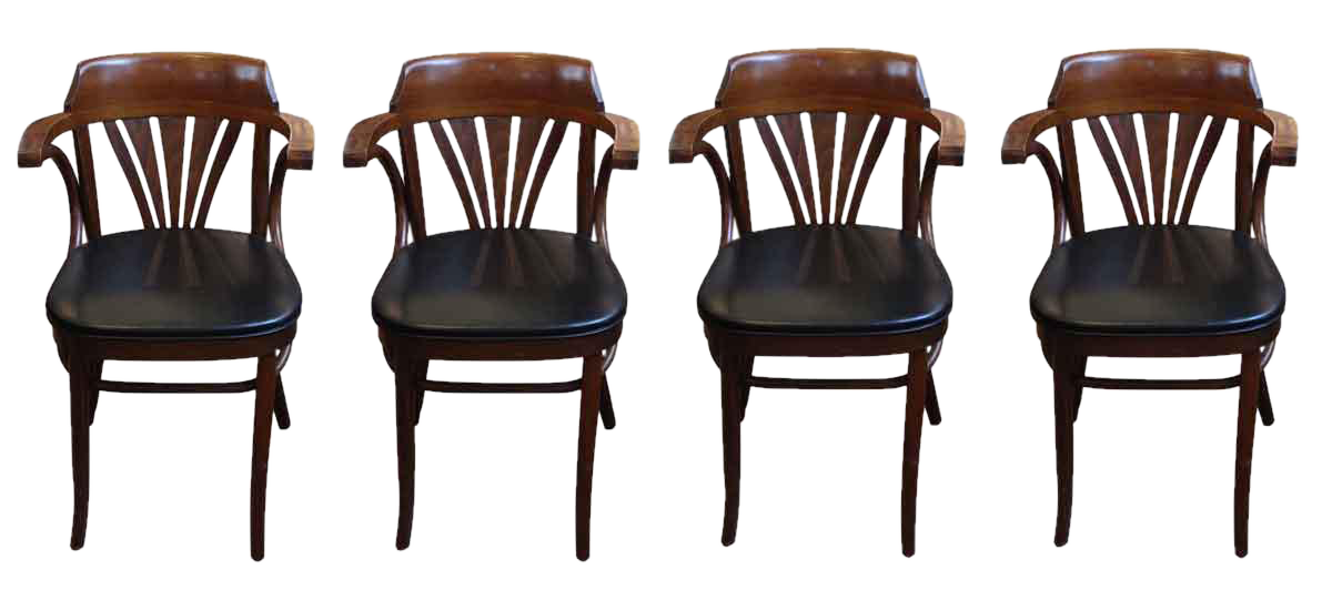 Vintage L U0026 B Bentwood Chairs   Set Of 4